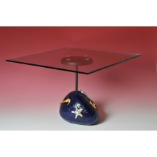 The blue stone table