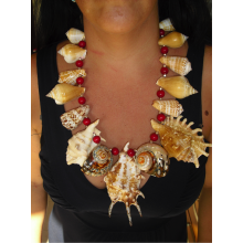 The necklace with tropical shells